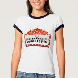 El mecanógrafo legal más grande del mundo tee shirts