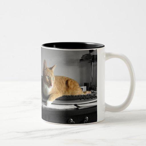 El mecanógrafo tazas de café
