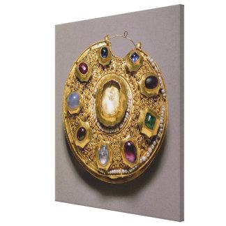 El medallón de Kolt, oro fijó con las perlas y Lona Estirada Galerías