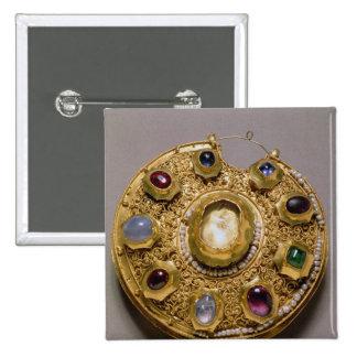 El medallón de Kolt, oro fijó con las perlas y Pin Cuadrada 5 Cm
