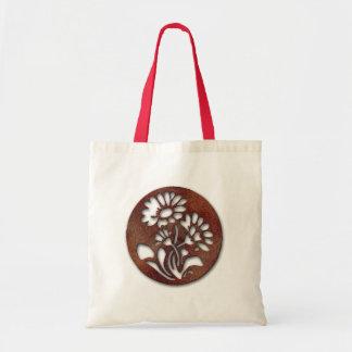 El medallón florece el bolso bolsa lienzo