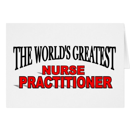 El médico más grande de la enfermera del mundo tarjeta de felicitación