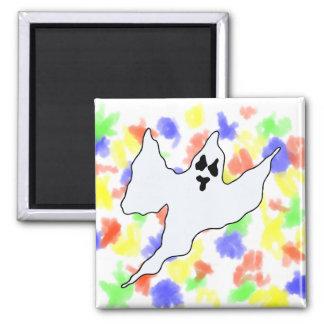 el medio blanco asustadizo del fantasma arma para imanes para frigoríficos