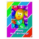 El medio cumpleaños Fase feliz hincha la tarjeta