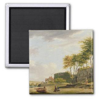 El Medway en Rochester, 1776 (aceite en lona) Imán Cuadrado