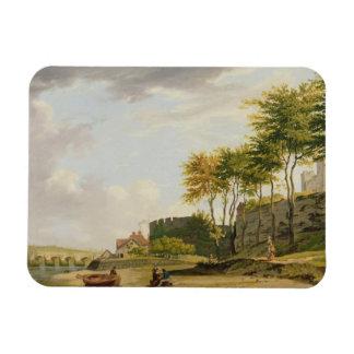 El Medway en Rochester, 1776 (aceite en lona) Imán Foto Rectangular