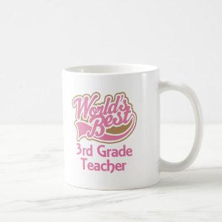 El mejor 3ro profesor del grado de los mundos taza de café
