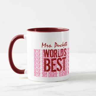 El mejor 3ro regalo del profesor del grado del taza