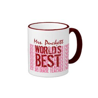El mejor 3ro regalo del profesor del grado del taza de dos colores