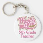 El mejor 5to profesor del grado de los mundos rosa llavero