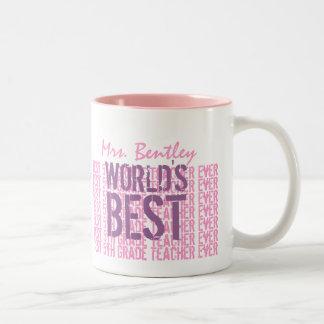El mejor 5to regalo del profesor del grado del mun taza de café