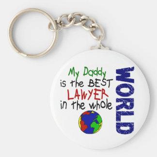 El mejor abogado en el mundo 2 (papá) llavero redondo tipo pin