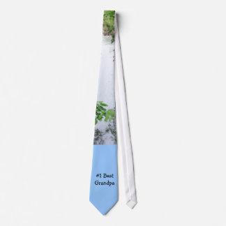El mejor abuelo #1 corbatas personalizadas