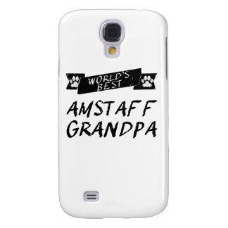 El mejor abuelo de AmStaff del mundo Funda Para Galaxy S4