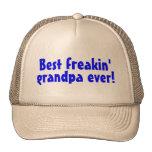 El mejor abuelo de Freakin nunca (azul) Gorros Bordados