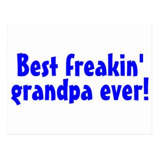 El mejor abuelo de Freakin nunca (azul) Postales