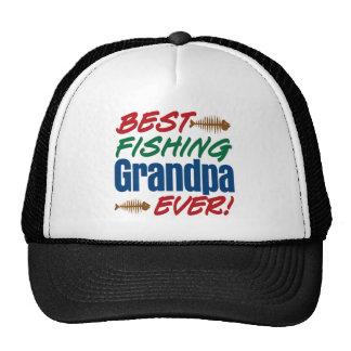 ¡El mejor abuelo de la pesca nunca! Gorros