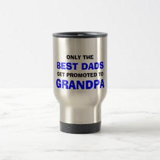 El mejor abuelo de los papás taza de viaje de acero inoxidable