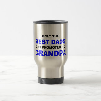 El mejor abuelo de los papás taza de viaje
