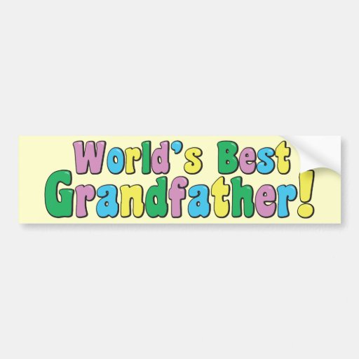 El mejor abuelo del mundo etiqueta de parachoque