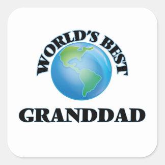 El mejor abuelo del mundo pegatina cuadrada