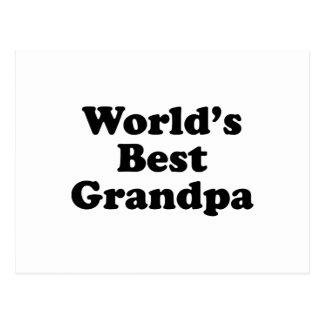 El mejor abuelo del mundo tarjeta postal