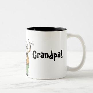 ¡El mejor abuelo del mundo! Taza De Café De Dos Colores