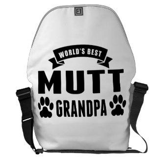 El mejor abuelo del Mutt del mundo Bolsas De Mensajería