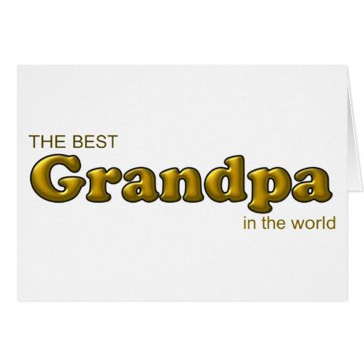 El mejor abuelo en el mundo tarjeta de felicitación