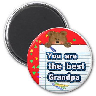 El mejor abuelo imán redondo 5 cm
