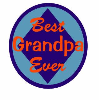 El mejor abuelo nunca adorno fotoescultura