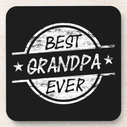 El mejor abuelo siempre blanco posavasos
