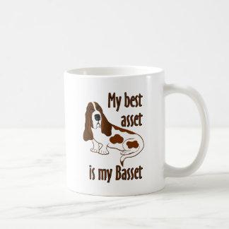 El mejor activo Basset Hound Taza De Café