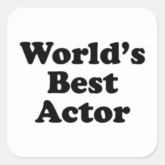 El mejor actor del mundo pegatinas cuadradases