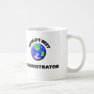 El mejor administrador del mundo taza básica blanca