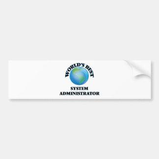 El mejor administrador del sistema del mundo etiqueta de parachoque