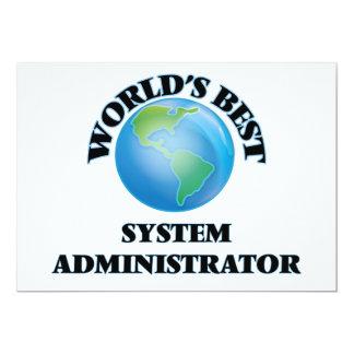 El mejor administrador del sistema del mundo invitación 12,7 x 17,8 cm