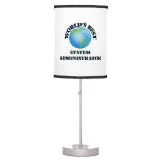 El mejor administrador del sistema del mundo lámpara de escritorio