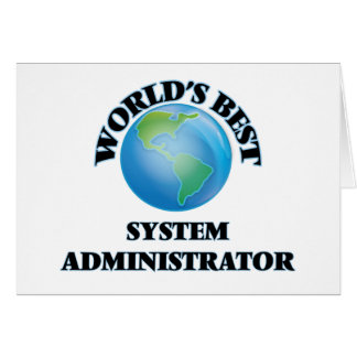 El mejor administrador del sistema del mundo tarjeta pequeña