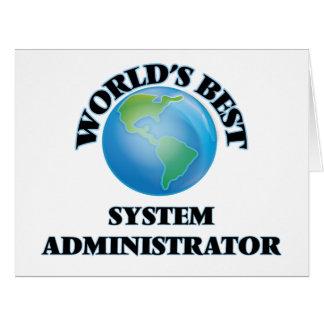 El mejor administrador del sistema del mundo tarjeta de felicitación grande