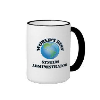 El mejor administrador del sistema del mundo taza a dos colores
