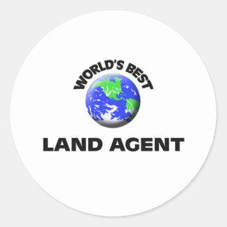 El mejor agente de la tierra del mundo etiqueta redonda