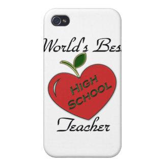 El mejor alto profesor de escuela del mundo iPhone 4/4S fundas