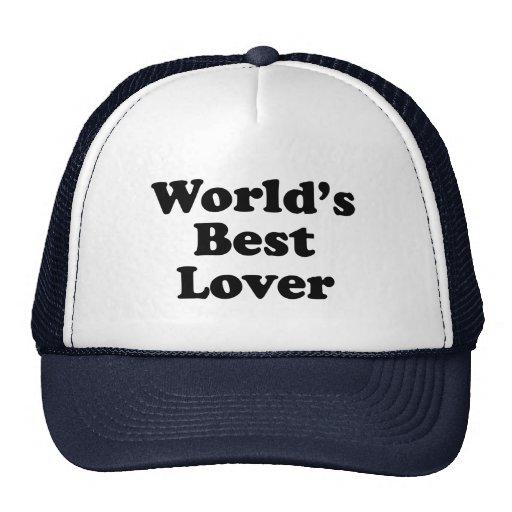 El mejor amante del mundo gorras de camionero