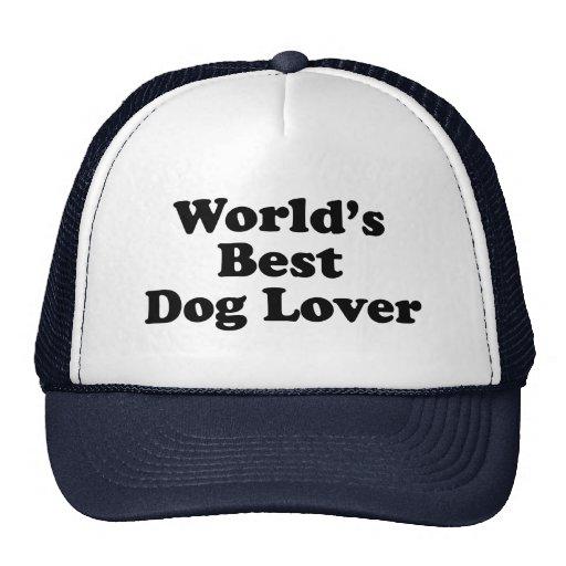 El mejor amante del perro del mundo gorras
