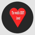 El mejor amante etiqueta redonda