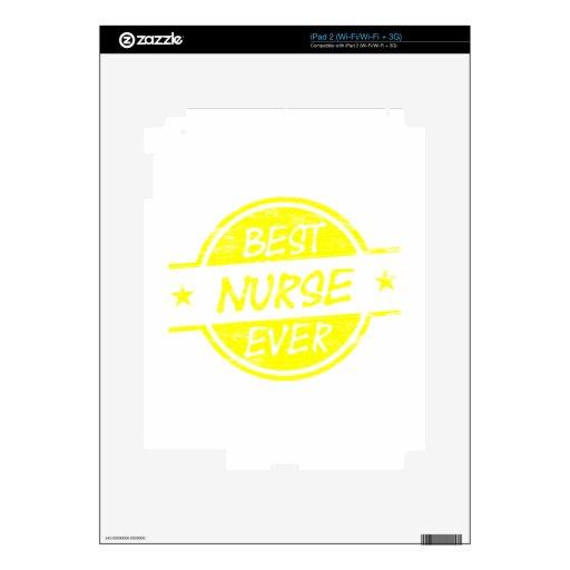 El mejor amarillo de la enfermera nunca iPad 2 calcomanías