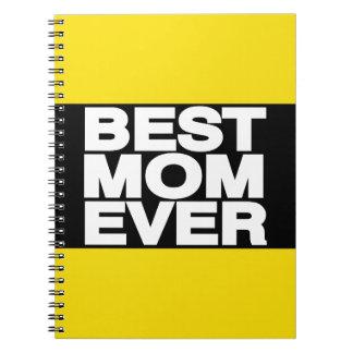 El mejor amarillo de LG de la mamá nunca Libros De Apuntes Con Espiral
