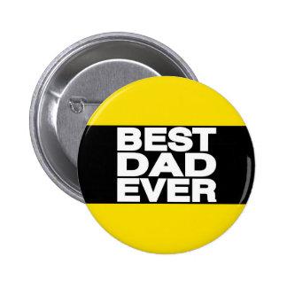 El mejor amarillo de LG del papá nunca Pin Redondo De 2 Pulgadas