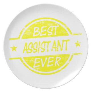 El mejor amarillo del ayudante nunca platos